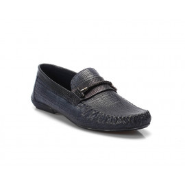 لوفر - حذاء جلد طبيعي منقوش 100%