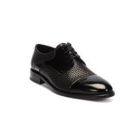 دانتيل - حذاء  ضيق جلد طبيعي 100%  مزخرف