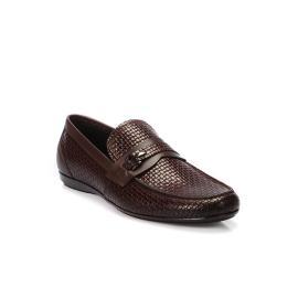 لوفي - حذاء جلد معتق طبيعي 100% نقشة الصدف الصغيرة