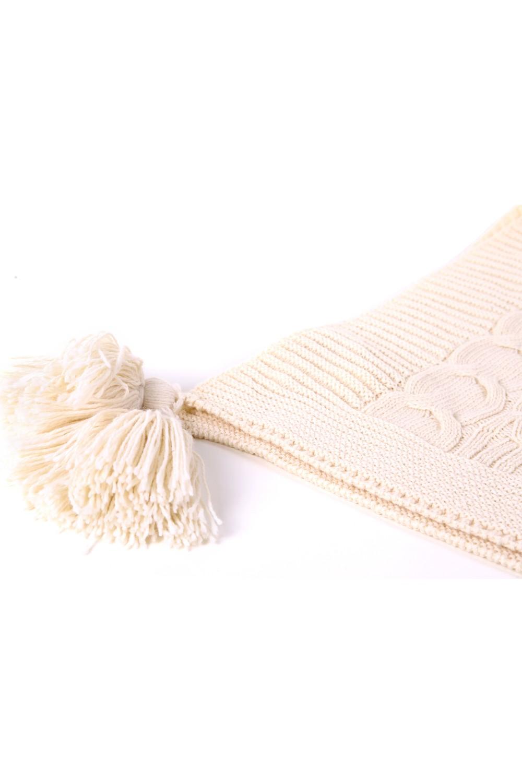 بتيرز هوم بطانية مقعد بتصميم محاك و تفاصيل من الشراشيب